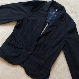 American Eagle Outfitters blue pinstripe blazer
